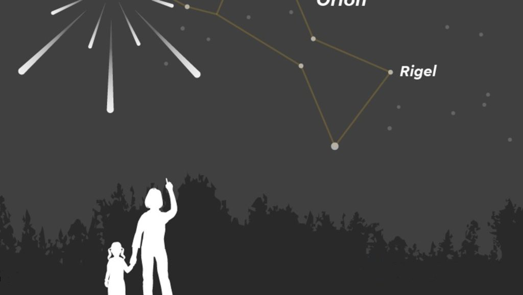 mom and girl meteor shower